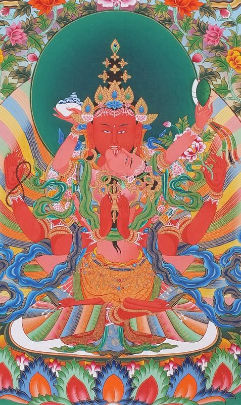 Red Avalokitesvara - Tibet Shop - []